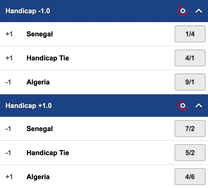 Handicap betting