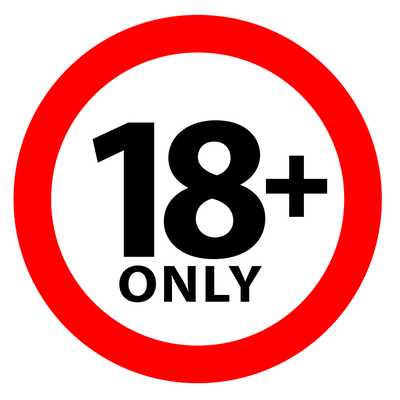18 and Over Sign