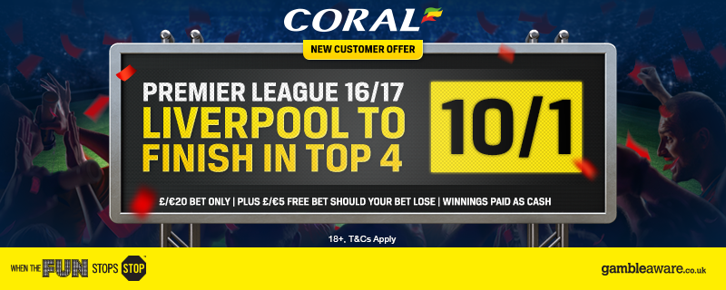 Coral Offer - LFC To Finish Top 4