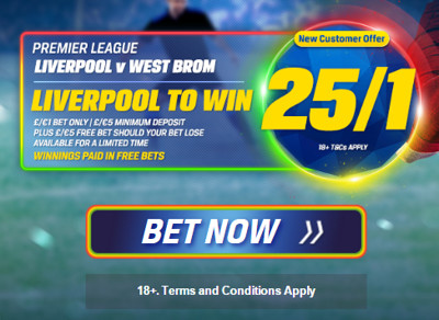 Coral: Liverpool v West Brom enhanced odds