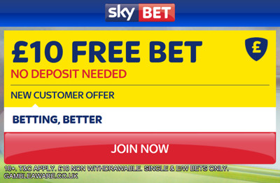SkyBet £10 No Deposit
