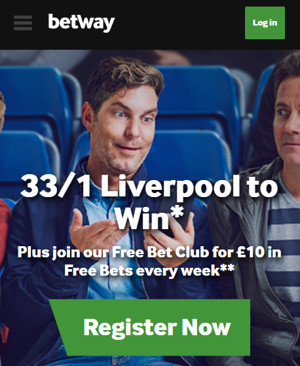 Betway - 33/1 LFC to win
