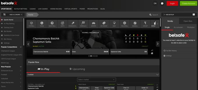 Betsafe Screenshot