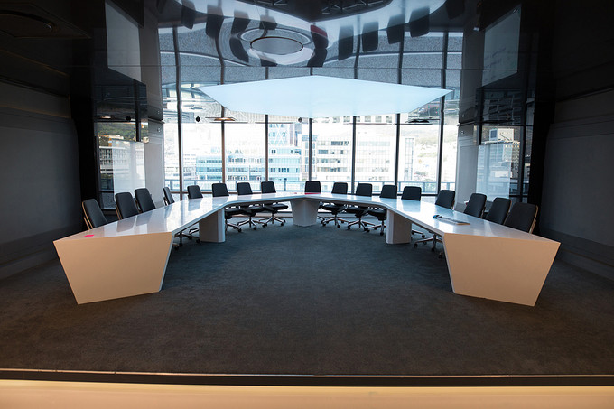 U-Shaped Boardroom Table