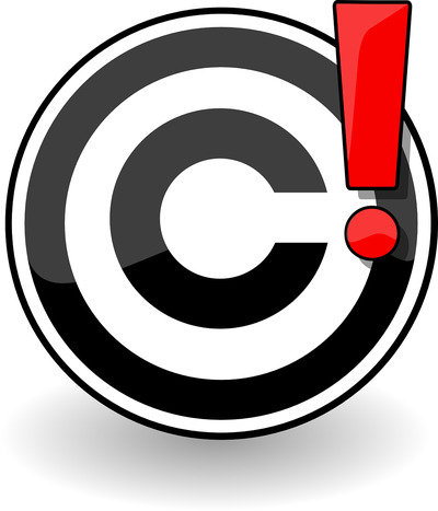 Copyright Warning Symbol