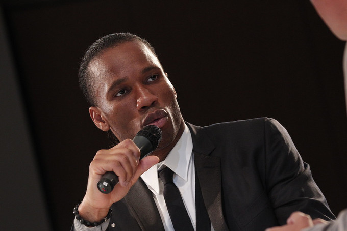 Didier Drogba Speaking at an Event