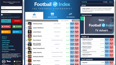 Football Index Screenshot