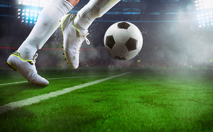Football Player with White Boots