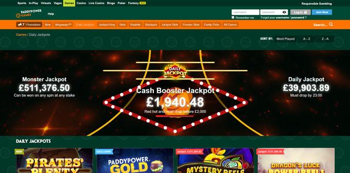Paddy Power Games Screenshot
