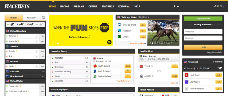 Racebets Website