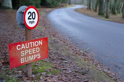Speed Bump & Speed Limit Sign