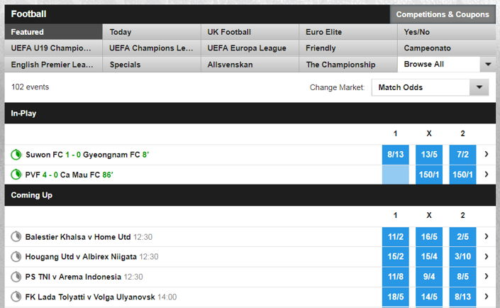 betfair football