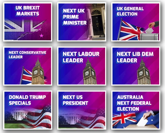 Betfred Politics & Elections Bets