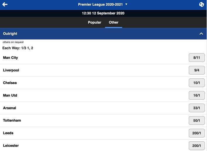 Betfred Football Premier League