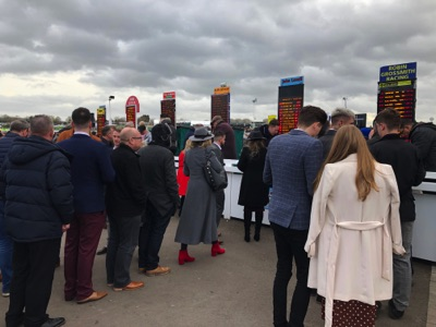 Betting queues at a horse race