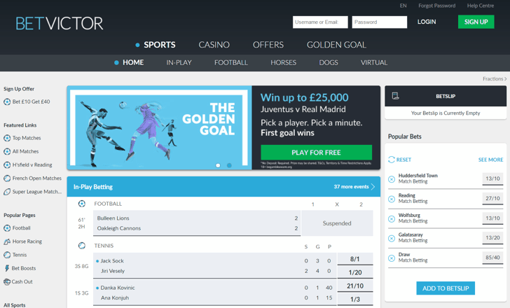 BetVictor Screenshot