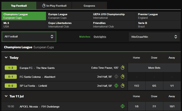 betway football