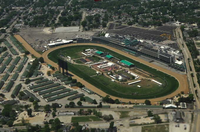 Dirt track at Churchill Downs