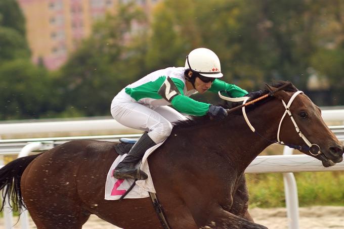 Horse racing jockey