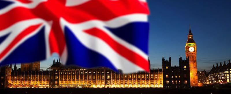 Houses of Parliament & the Union Jack Flag