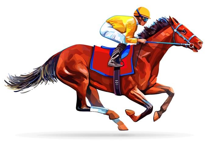 Jockey & horse illustration