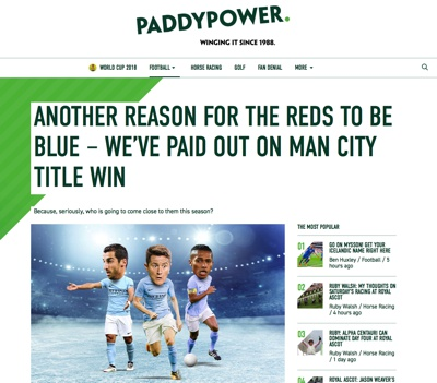 Paddy Power Man City 2017