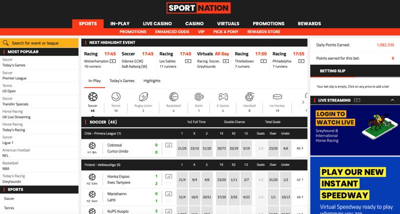 SportNation homescreen